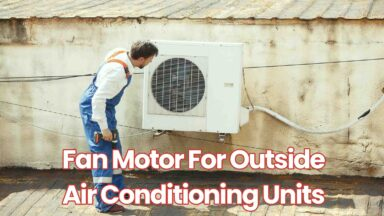 fan motor for outside air conditioning units