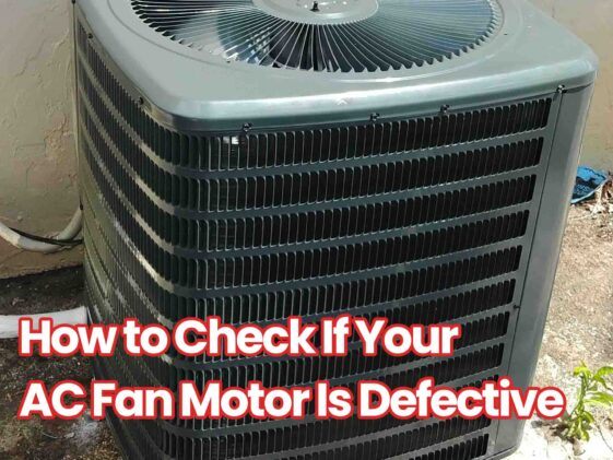 how to check ac fan motor